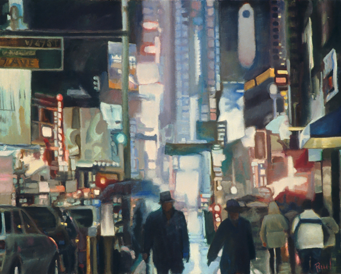 Broadway-Lights-30x36-oil